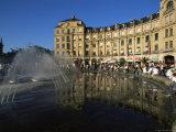 Modern Fountain on Karlsplatz, Munich, Bavaria, Germany Photographic Print by Yadid Levy