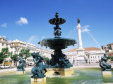 Rossio Square, Praca Dom Pedro Iv, Lisbon, Portugal Photographic Print by Yadid Levy