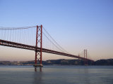 Ponte 25 De Abril Over the River Tagus, Lisbon, Portugal Photographic Print by Yadid Levy