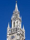City Hall Tower at Marienplatz, Munich, Bavaria, Germany Photographic Print by Yadid Levy