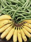 Bananas and Green Beans at the Market, Martinique, Lesser Antilles Photographic Print by Yadid Levy