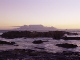 View to Table Mountain from Bloubergstrand, Cape Town, South Africa, Africa Photographic Print by Yadid Levy