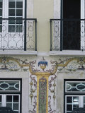 Typical Azulejos (Painted Tiles), Lisbon, Portugal Photographic Print by Yadid Levy