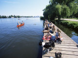 People at the Aussenalster Lake in the Middle of the City, Hamburg, Germany Photographic Print by Yadid Levy