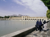 Khaju Bridge, Isfahan, Iran, Middle East Photographic Print by Sergio Pitamitz
