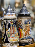 Traditional Beer Mugs, Munich, Bavaria, Germany Photographic Print by Yadid Levy