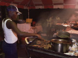 Food Stall at the Sunday School, Buccoo, Tobago, West Indies, Caribbean, Central America Photographic Print by Yadid Levy