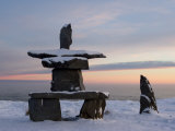 Inukshuk, Inuit Stone Landmark, Churchill, Hudson Bay, Manitoba, Canada Photographic Print by Thorsten Milse
