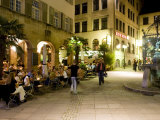 People Sitting at Outdoor Cafes and Restaurants, Stuttgart, Germany Photographic Print by Yadid Levy