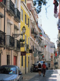 Street in Bairro Alto, Lisbon, Portugal Photographic Print by Yadid Levy
