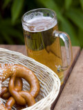 Beer and Pretzels, Stuttgart, Baden Wurttemberg, Germany Photographic Print by Yadid Levy