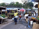Fruit and Vegetable Market at Scarborough, Tobago, West Indies, Caribbean, Central America Photographic Print by Yadid Levy