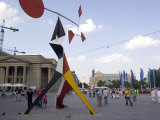 Alexander Calder's Mobile Statue, and People on Konigstrasse, (King Street), Stuttgart Photographic Print by Yadid Levy