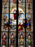 Stained Glass Windows in Cologne Cathedral, Cologne, North Rhine Westphalia, Germany Photographic Print by Yadid Levy