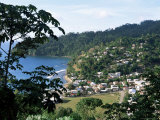 Elevated View Over the Fishing Village of Charlotteville, Tobago, West Indies, Caribbean Photographic Print by Yadid Levy