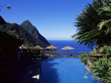 The Pool at the Ladera Resort Overlooking the Pitons, St. Lucia, Windward Islands Photographic Print by Yadid Levy
