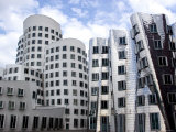 The Neuer Zollhof Building by Frank Gehry at the Medienhafen, Dusseldorf, North Rhine Westphalia Photographic Print by Yadid Levy