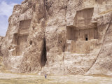 Tombs of Darius II and Artaxerxes (Left to Right), Naqsh E Rustam (Naqsh-I-Rustem), Iran Photographic Print by Sergio Pitamitz
