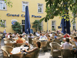 People Sitting at an Outdoor Cafe on Karlsplatz, Stuttgart, Baden Wurttemberg, Germany Photographic Print by Yadid Levy