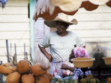 Vendor at Local Vegetable Market, Fort De France, Martinique, Lesser Antilles Photographic Print by Yadid Levy