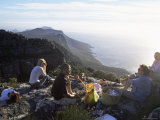 Visitors Having a Picnic on the Top of Table Mountain, Cape Town, South Africa, Africa Photographic Print by Yadid Levy