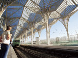 The Modern Oriente Railway Station, Designed by Santiago Calatrava, Lisbon, Portugal Photographic Print by Yadid Levy