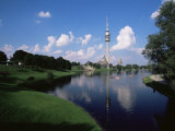 Olympiapark (Olympic Park) and the Olympiaturm (Olympic Tower), Munich, Bavaria, Germany Photographic Print by Yadid Levy