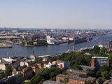 A View Over the City and Port from Michaeliskirche, Hamburg, Germany Photographic Print by Yadid Levy