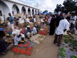 Vegetable Market, Stone Town, Zanzibar, Tanzania, East Africa, Africa Photographic Print by Yadid Levy