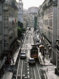 Traffic in the Baixa Area, Lisbon, Portugal Photographic Print by Yadid Levy