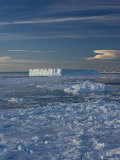 Iceberg and Pack Ice, Weddell Sea, Antarctic Peninsula, Antarctica, Polar Regions Photographic Print by Thorsten Milse