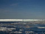 Iceberg and Pack Ice, Weddell Sea, Antarctic Peninsula, Antarctica, Polar Regions Photographic Print by Thorsten Milse