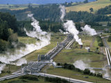Aerial View of Wairakei Thermal Power Area, North Island, New Zealand Photographic Print by Robert Francis