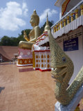 Wat Thepkachonchit with Big Buddha in Background, Phuket, Thailand, Southeast Asia Photographic Print by Joern Simensen