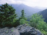 View from the Alum Cave Bluffs Trail in Great Smoky Mountains National Park, Tennessee, USA Photographic Print by Robert Francis