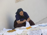 Old Woman Crocheting, Hvar, Croatia Photographic Print by Joern Simensen