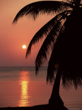 Sunset Seen from the Resort of West End on Roatan, Largest of the Bay Islands, Honduras, Caribbean Photographic Print by Robert Francis