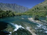 The Kawarau River, the Outflow of Lake Wakatipu at Frankton, Near Queenstown, Otago Photographic Print by Robert Francis