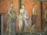 Wall Paintings, Villa of the Mysteries, Pompeii, Unesco World Heritage Site, Campania, Italy Photographic Print by Christina Gascoigne
