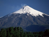 The Smoking Volcan Villarrica, 2847M, Lake District, Chile, South America Photographic Print by Robert Francis