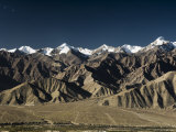Indus Valley and Stok-Kangri Massif, Leh, Ladakh, Indian Himalayas, India Photographic Print by Jochen Schlenker
