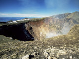 The Smoking Crater of Volcan Villarrica, 2847M, Lake District, Chile, South America Photographic Print by Robert Francis