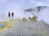 Fumaroles on the Crater Edge, Island of Vulcano, Aeolian Islands, Sicily Photographic Print by Kim Hart