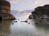 The Bay in Dubrovnik at Dusk, Dalmatian Coast, Croatia Photographic Print by Joern Simensen