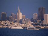 City Skyline from the Bay, San Francisco, California, USA Photographic Print by Kim Hart