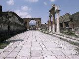 Portico of the Macellum, Pompeii, Unesco World Heritage Site, Campania, Italy Photographic Print by Christina Gascoigne