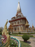 Temple, Wat Chalong, Phuket, Thailand, Southeast Asia Photographic Print by Joern Simensen