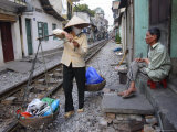 Daily Life by the Railway Tracks in Central Hanoi, Vietnam, Indochina, Southeast Asia Photographic Print by Andrew Mcconnell