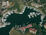 Aerial View of Hilton Head Harbour Town, South Carolina, USA Photographic Print by Kim Hart