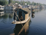 Houseboats on the Lake at Srinagar, Kashmir, Jammu and Kashmir State, India Photographic Print by Christina Gascoigne